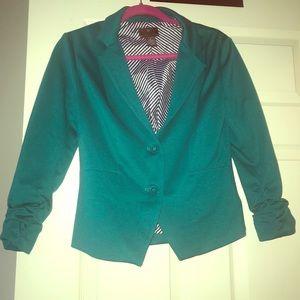 Fashionable Turquoise Blazer
